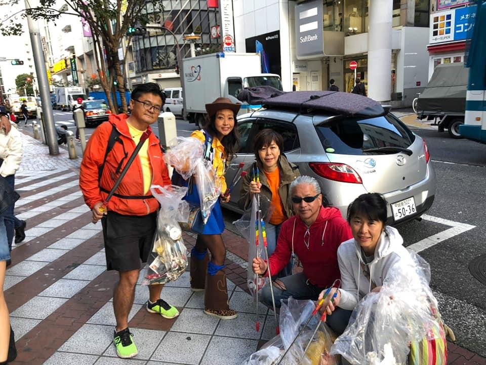 2018年11月01日(木) ハロウィン翌朝渋谷センター街タウンクリーン